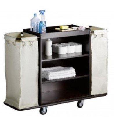 Saro Chariot Room Services Acier + Sacs à Linge   1420x450x1120(h)mm