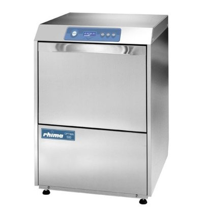 Rhima Lave-Vaisselle 50x50cm   Rhima Optima 500S Plus   Doseur de Rinçage + Lavage + Pompe de Vidange + Adoucisseur