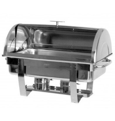 Saro Chafing Dish Rolltop INOX | GN1/1 | 9 Litres | PROMOTION XXL!