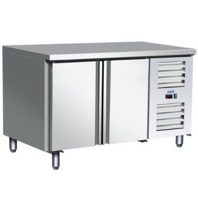 Saro Comptoir Congelée Inox | 2 Portes | Réfrigérant R404A | 1360x700x(h)890/950mm