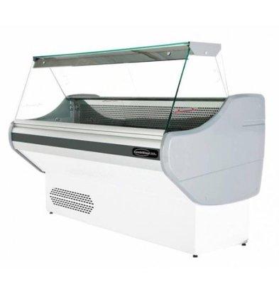 Combisteel Vitrine Réfrigérée | +1/+10°C | avec Eclairage | 1500x825x1230(h)mm