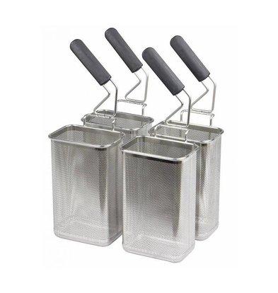 Combisteel Set de 4 Paniers pour Cuiseur à Pâtes | 105x160mm