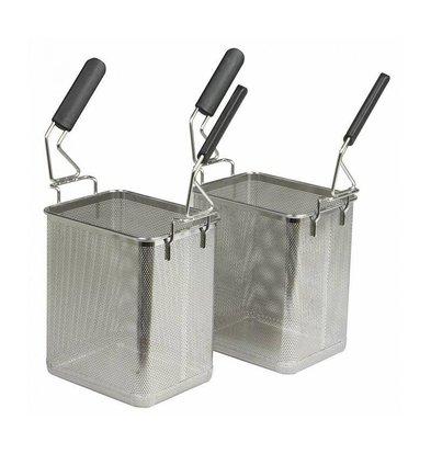 Combisteel Set de 2 Paniers pour Cuiseur à Pâtes | 220x170mm