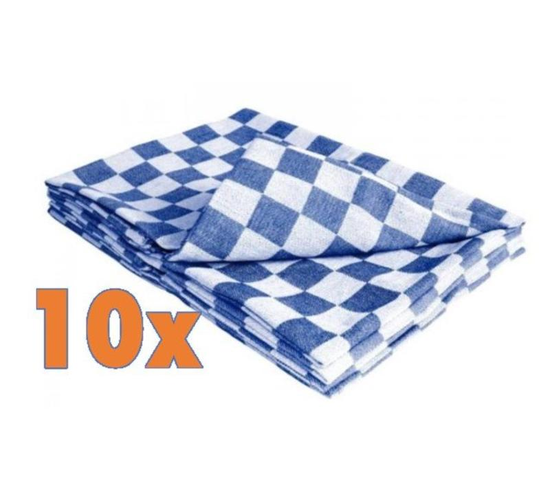 chrselect torchon cuisine carreaux bleu blanc coton 660x660mm 10 pi ces. Black Bedroom Furniture Sets. Home Design Ideas