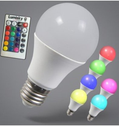 Lumisky Ampoule LED Bulby 9W  voor Remote   Multicolore   1100 Lumens