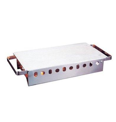 CHRselect Réchaud Inox 2 Brûleurs | Plaque Aluminium à Charnière | 37x17,5cm