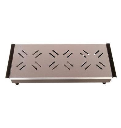 CHRselect Réchaud à 3 Bougies | Plateau Aluminium | 44x17cm