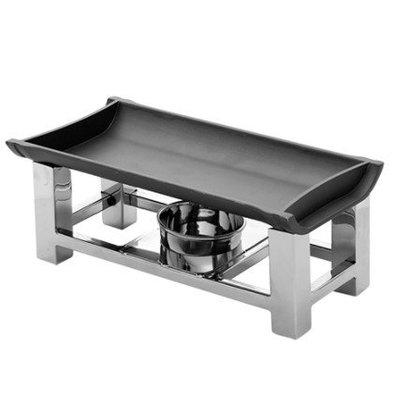 CHRselect Chauffe Plat Inox | Plaque Aluminium | 30x15x12(h)cm