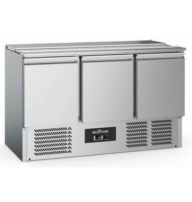 Combisteel Saladette Inox | 3 Portes | 368 Litres | 1370x700x880(h)mm