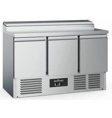 Combisteel Saladette Inox | 3 Portes | 392 Litres | 1370x700x970(h)mm