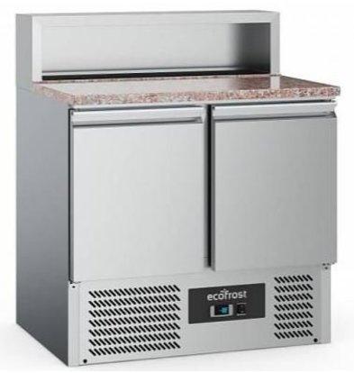 Combisteel Comptoir à Pizza Inox   Pour 5x GN1/6    2 Portes   900x700x1080(h)mm