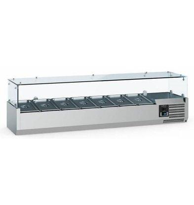 Combisteel Vitrine Réfrigérée Self-Service | 5x GN1/4 | 1200x335x435(h)mm