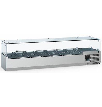 Combisteel Vitrine Réfrigérée Self-Service | 7x GN1/4 | 1500x335x435(h)mm