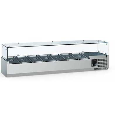 Combisteel Vitrine Réfrigérée Self-Service | 8x GN1/4 | 1800x335x435(h)mm