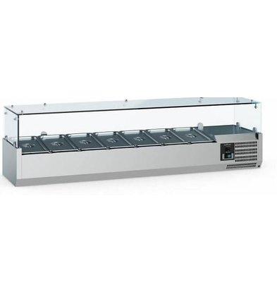 Combisteel Vitrine Réfrigérée Self-Service | 7x GN1/3 | 1600x395x435(h)mm