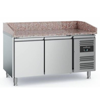 Combisteel Comptoir à Pizza Inox   2 Portes   1520x800x1000(h)mm