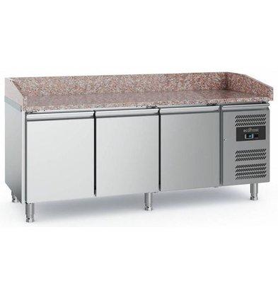 Combisteel Comptoir à Pizza Inox   3 Portes   2020x800x1000(h)mm