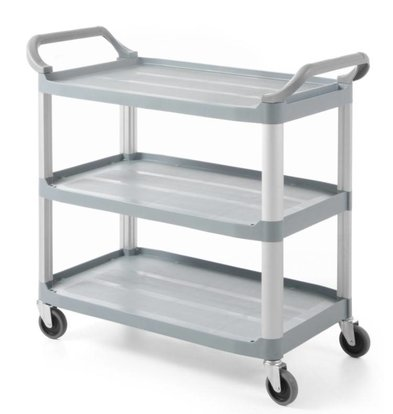 Hendi Chariot de Service | 3 Etages | Polyethylène | Max 130KG | 1280x500x960(h)mm