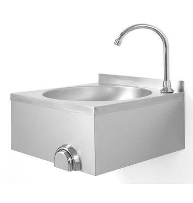 Lave-Mains avec Commande Genou | Inox | 400x400x450(h)mm