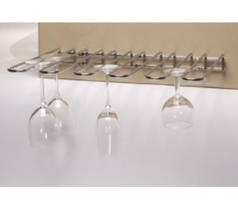 emga support verre pied chrom e mod le de 5 racks de 300mm. Black Bedroom Furniture Sets. Home Design Ideas