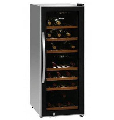 Bartscher Réfrigérateur à Vin 113 L | 2 Zones Température | Silencieux | 580x396x1030(h)mm