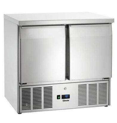 Bartscher Mini-Table Réfrigérée | Format GN1/1 | 2 Portes | 900x700x882(h)mm