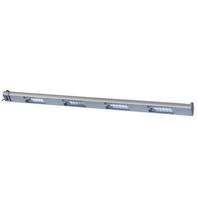 Roband Lampe Chauffante à Quartz | 4 Lampes Integrées/ 1400W | Dim. 1800mm | avec Intérrupteur!