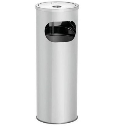 Bartscher Cendrier Inox sur Colonne | 11 Litres | 210x210x574(h)mm