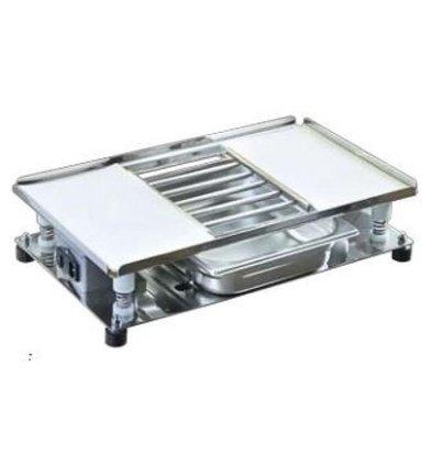 Table vibrante | Incl. Grille et collecteur | 540x320mm