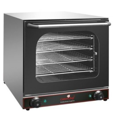CaterChef Four à Convection Inox | 4 Plaques Incl. | 2670W | 600x600x570(h)mm