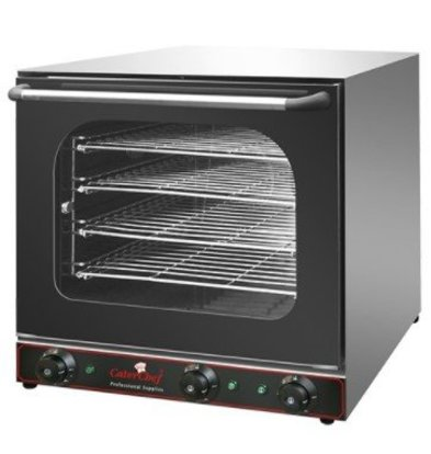 CaterChef Four à Convection Inox | 4 Plaques Incl. | 2670W + Grill 2000W | 600x600x570(h)mm