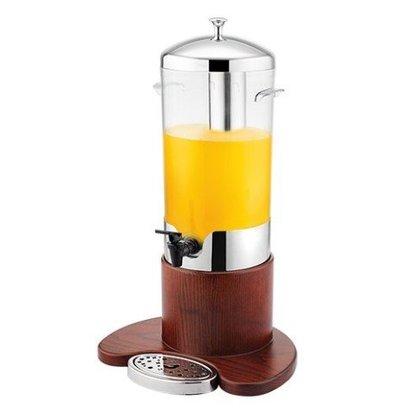 Emga Distributeur de Boisson Froid | 5 Litres | Bois/Inox | 520(h)mm