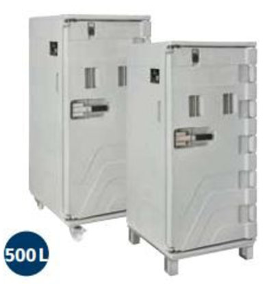 CHRselect Container Isotherme Serie Cargo | Avec Roues | 500 Litres | -30° à +100°C | 715x850x(h)1675mm