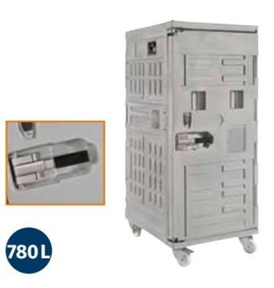 CHRselect Container Isotherme Serie Cargo | Avec Roues | 780 Litres |800x1000x(h)1950 mm