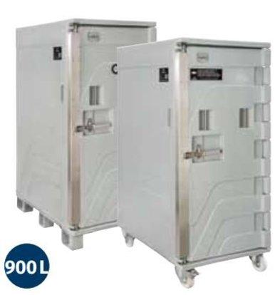Linum Container Isotherme Serie Cargo | Avec Roues | 900 Litres | -30° à +100°C | 800x1200x(h)1835mm