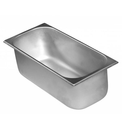Combisteel Bac à Glace Inox | 5 Litres | 165x360x120(h)mm
