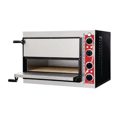 Gastro M Four à Pizza Inox | Gastro M PISA | 2 Pizzas Ø320mm | 230V | 568x500x430(h)mm