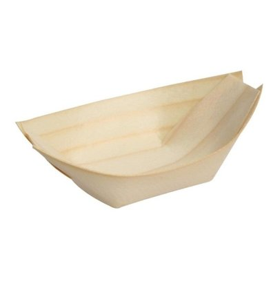 Fiesta Plats en Bouleau Pirogue | 250mm | Lot de 100