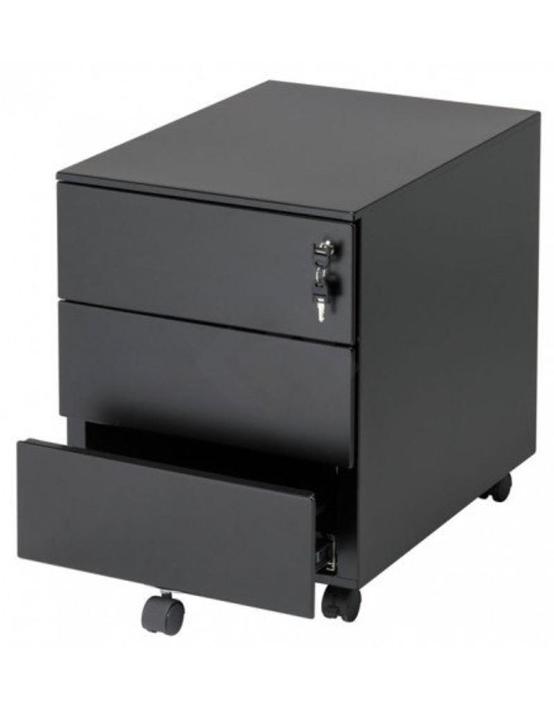 Multi meubel ladenblok staal verrijdbaar 3 laden multi for Ladenblok met slot