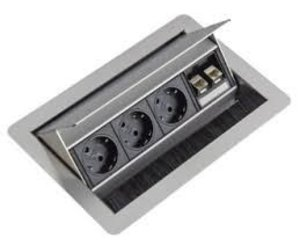 Inbouw stopcontact bureau kabelmanagement multi meubel