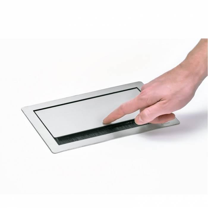 EVOLINE Evoline Inbouw Powerbox Flip Top Push Medium 4x Stroom 4730051.04000001.096 Inbouw Powerbox Flip Top Push Medium 4x Stroom