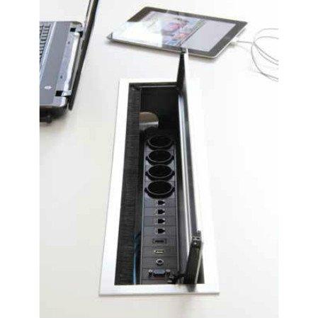 BI-BOX Kabelbox large + powerinlay 4P1D1V1A1H 423025.605150 + 423025.000004 BI-BOX kabelbox large + powerinlay 4