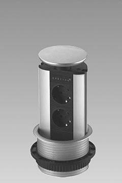 EVOLINE Evoline Verticale powerdock 2 x stroom 4730100.2P Evoline Powerdock met 2 x stroom aansluitingen