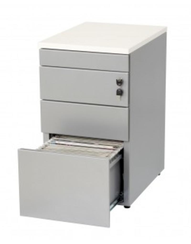 Huislijn ladenblok bureauhoogte 3 laden en topblad multi for Ladenblok kersen