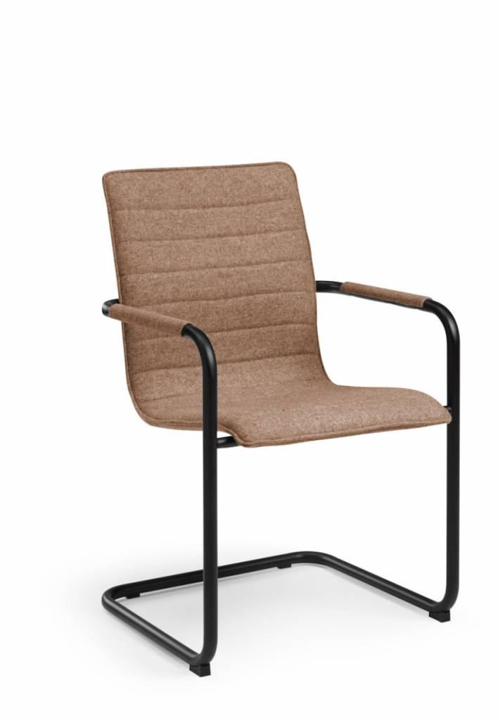 HUISLIJN Design vergaderstoel Huislijn model S4 ZWART FRAME