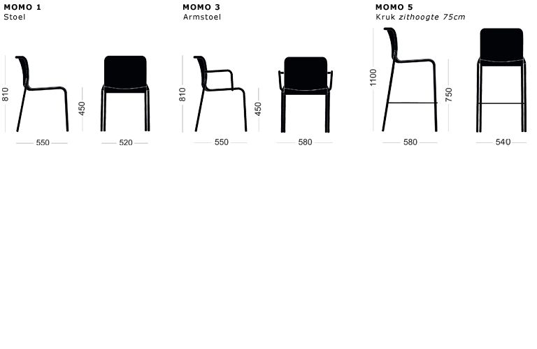COLOS MOMO2 Chair van COLOS