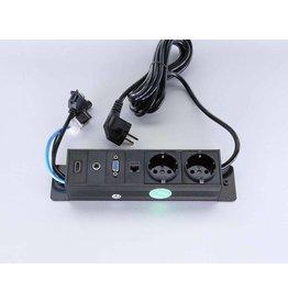 Götessons Götessons Powerinlay 2 x stroom + 1 x data + 1 x VGA + 1 x Audio + 1 x HDMI