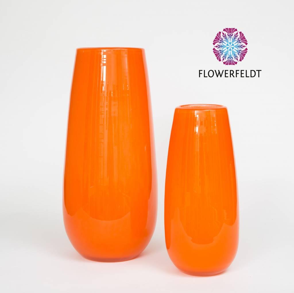 Vase robert soft orange orange vases online flowerfeldt for Orange vase