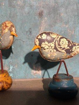 Vogeltjes van metaal