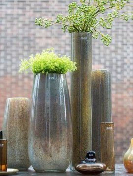 DutZ Cylinder vase tall silverbrown